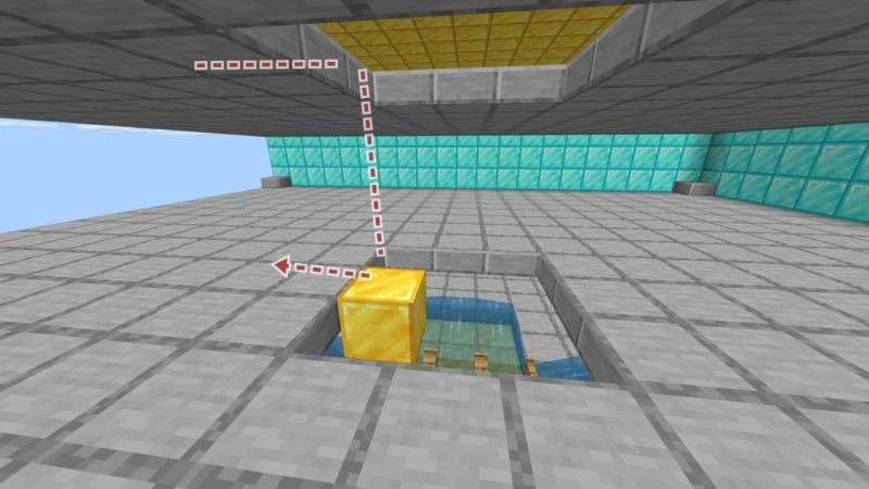 モンスターから見える二層目へのルート