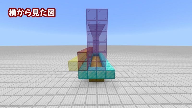 横から見たアーチ状のガラスブロック