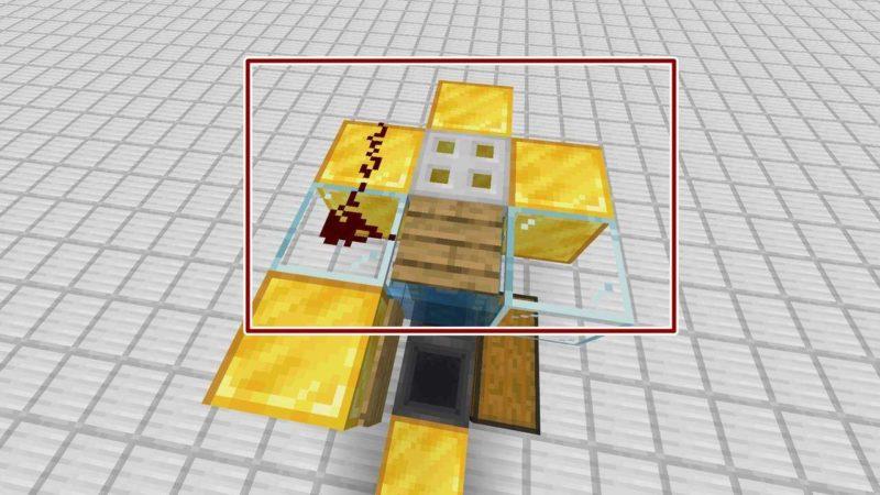 重量感知板と鉄のトラップドア
