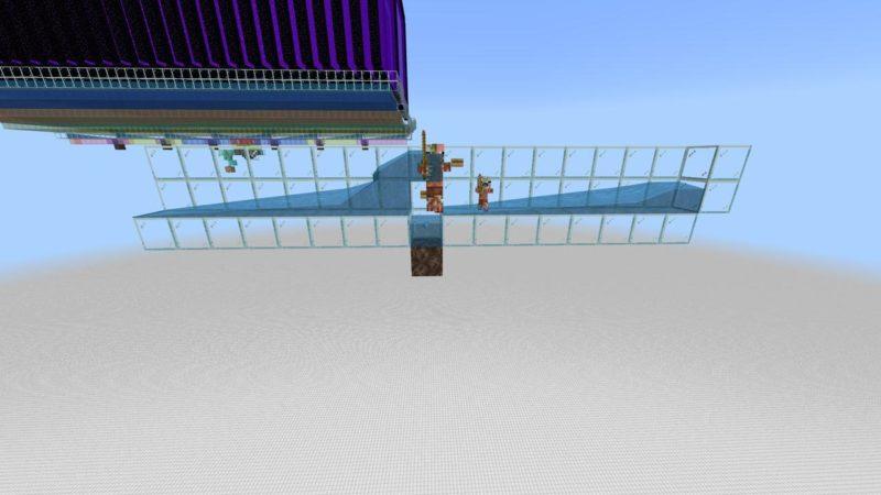 問題なく水流に巻きこまれるゾンビピッグマン