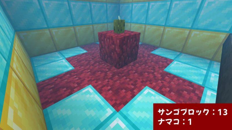 サンゴブロックとナマコ