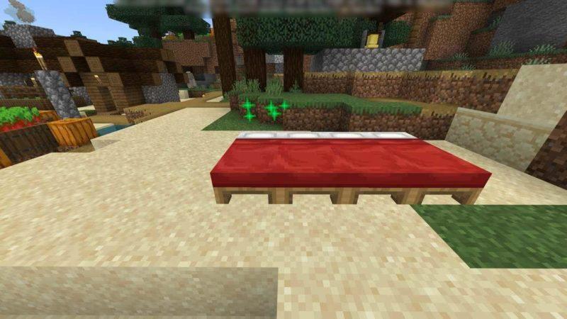 道ばたのベッド
