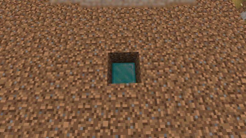 穴の下の建築用ブロック