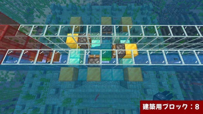 ブロック上の建築用ブロック