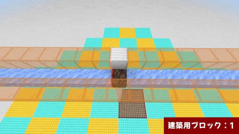 1か所だけ建築用ブロック