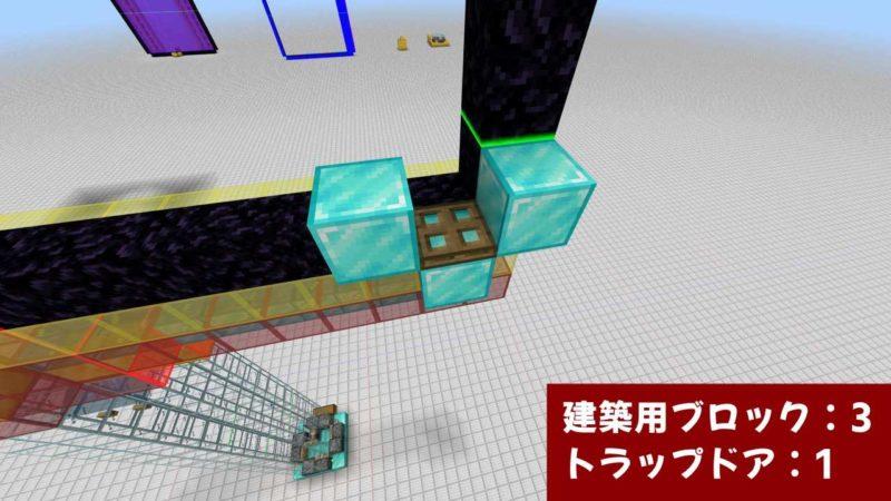 建築用ブロックとトラップドア