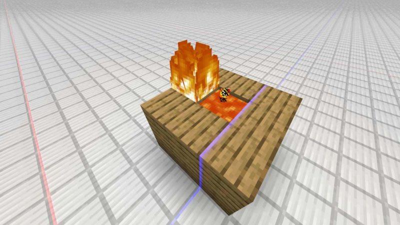 燃え移る炎