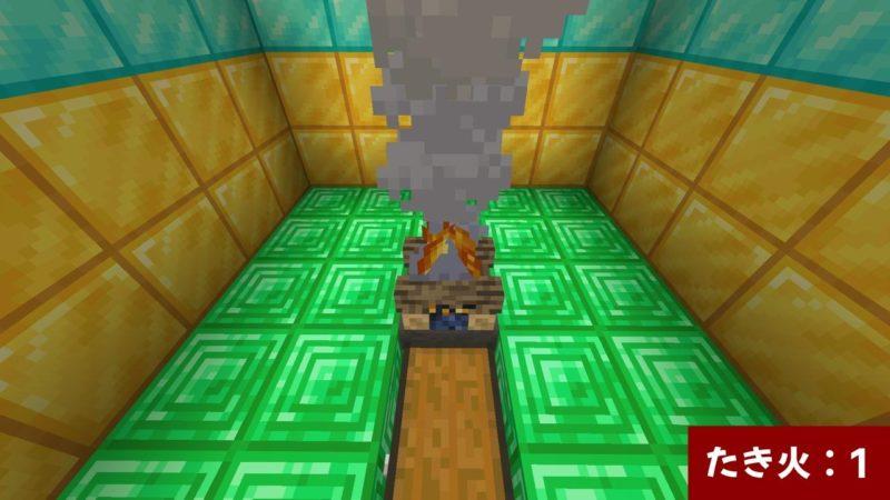 ホッパー上のたき火