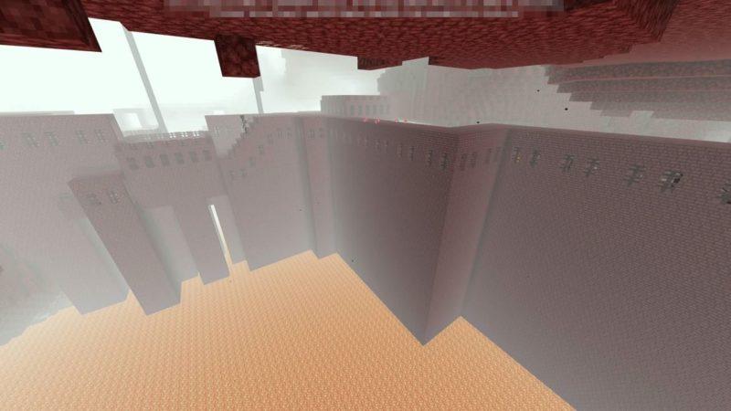 周囲が溶岩だらけの要塞