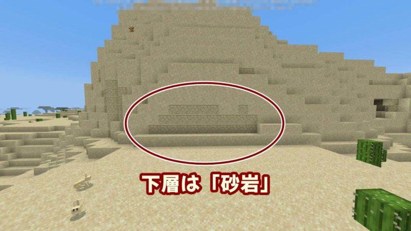 下層は「砂岩」