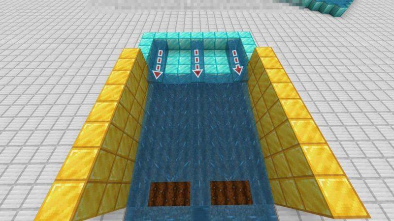 一直線に伸びる水流